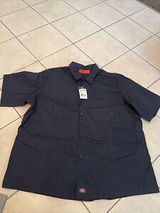 Dickies Industrial Work Shirt Navy Regular 4X-Large LS535NV 4X