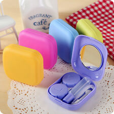 Pocket Mini Contact Lens Case Travel Kit Easy Carry Mirror Container Holder New