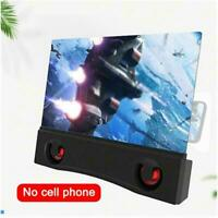 3D 12inch Mobile Phone Screen Magnifier Video Amplifier with best Speaker V3C1