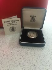 UNITED KINGDOM 1988 SILVER PROOF ONE POUND COIN IN ORIGINAL BOX W/ COA