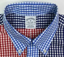 Brooks Brother Mens Picnic Gingham Multicolor Shirt Size Medium NWT