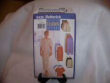 Butterick Sewing Pattern 5426 Misses' Skirt, Pants, Top and Vest in Size 8-12