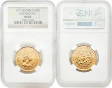 Mauritius 1971 Independence 200 Rupees Gold NGC MS66