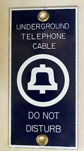 Vintage Bell System Underground Telephone Cable Sign ~ Porcelain