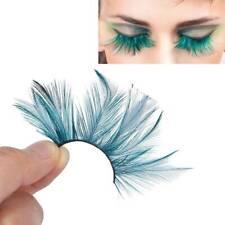 2d042fe7b8d Dark green feather 3D thick winged long false eyelashes stage false eye  lashes