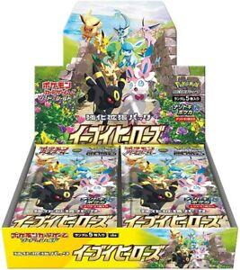 POKEMON CARD Eevee Heroes SWORD & SHIELD BOOSTER BOX JAPANESE Ver.