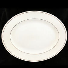"""FEDERAL PLATINUM by LENOX Platter Oval 13.25"""" long NEW NEVER USED made in USA"""