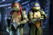 2 NECA Teenage Mutant Ninja Turtles Movie RAPHAEL+DONATELLO 1/4 Figure Set TMNT