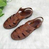 Cole Haan | Brown Leather Fisherman Sandals 6.5B Shoes Closed Toe Women's
