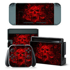 Red Skull Nintendo Switch Protective Skin 4 Pc Sticker Set - 0250