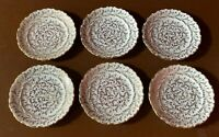 PVB Haus Dresden Dekor - West Germany Gold Plated White Dessert Plates -Set of 6