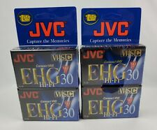 Lot of 4 JVC 90 Minute VHSC Compact Video Tape Cassette EHG Hi-Fi 30 Sealed