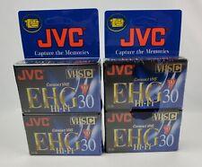 Lot of 4 JVC 90 Minute VHSC Compact Video Tape Cassette EHG Hi-Fi 30 Sealed