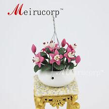 1:12 scale dollhouse Handmade Handmade balcony hanging basket Mini flower
