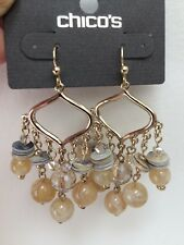 Chico's Vinia Chandelier Natural Tone Earrings NWT $29