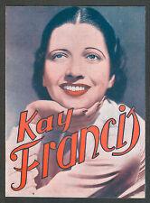 KAY FRANCIS & GEORGE BRENT VIVIENDO EN TERCIOPELO URUGUAY CINEMA PROGRAM 1935