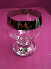 lovely clear German Bavarian glass with silver gilt rim