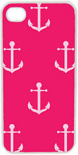 Fuchsia Pink Faith Hope Anchor Design on iPhone 4 4s Case Cover