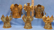 Vintage Lot of 6 Metal Angel Candle Holders in 3 Different Styles Need Some TLC