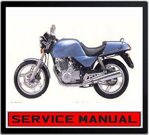 HONDA XBR500 XBR 500 BIKE REPAIR SERVICE MANUAL ~ DVD