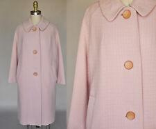 Vintage VTG 50s 1950s Pale Pink Warm Cocoon Coat Midcentury Pockets 3/4 Sleeves