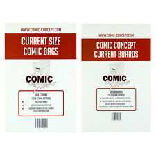 More details for comic concept comic bags and backing boards -- current size -- unbeatable value!