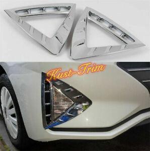 2pcs ABS Chrome Front Fog Lights Lamp Cover Trim 2019 2020 For Hyundai Elantra