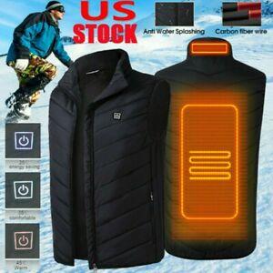 Winter Body Warmer Electric Vest Heated Jacket USB Thermal Warm Heat Pad Unisex