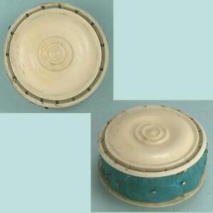 Antique Carved Bone Pin Cushion / Disc * English * Circa 1870
