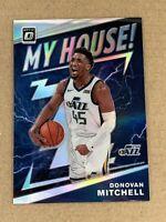 2019-20 Optic Donovan Mitchell Silver Holo Prizm My House Insert Card #16 JAZZ
