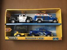 Tonka TOUGHEST MINIS Gift Set of 4 Police TRUCKS Speed Sign LIGHTS & SOUNDS 2011