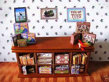 Casa de muñecas en miniatura vendimia Toys Mostrador De Tienda