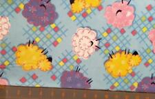 Quilt Sew Fabric Flannel baby kids 2 yards Sheep yellow pink purple