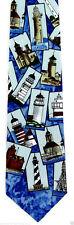 Ralph Marlin Lighthouse Mens Necktie Silk Neck Tie Sea Beach Ocean Gift New