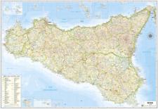 SICILIA CARTINA REGIONALE MURALE 97X68 CM [IN PIANO SENZA ASTE] [MAPPA/CARTA]