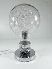 Wink Design Tomasucci Neutrale Lampada da Tavolo Lampadina Light Bulbo Cromo