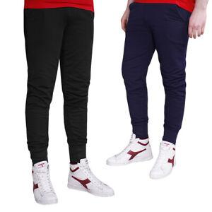 Pantaloni Tuta Uomo Sportivo Laccetti Nero Blu Cotone Casual Street Style SARANI