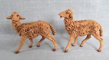 FONTANINI 2 PC SHEEP NATIVITY VILLAGE ANIMAL FIGURES ROMAN SERIES ITALY