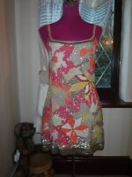 Stunning  All Saints Chaztec Sequin Dress Size 10 Very Good Condition