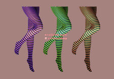 RINGER STRIPPED TIGHTS FUNKY COLOURFUL FANCY DRESS FASHIONABLE TIGHTS