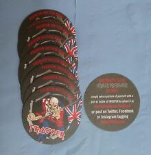 10 Robinsons Trooper Iron Maiden Beer UK Tour Beer Mats *NEW*