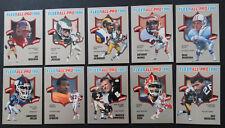 1990 Fleer All-Pro Insert Partial Set of 10 Football Cards Missing 15 Cards