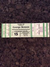 George Benson 1978 Unused Concert Ticket Portland Oregon Paramount Theatre