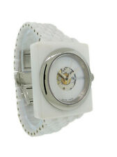 Nixon A138 100 Debutant Women's Automatic Cushion White Ceramic Date Watch