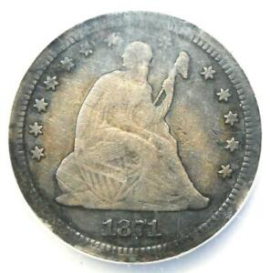 1871-CC Seated Liberty Quarter 25C - NGC Fine Details - Rare Carson City Date!