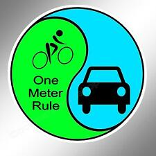 Bike Safety Sticker decal One Meter Rule bicycle car share road US spelling