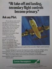 12/1981 pub lucas aerospace secondary flight control systems original ad