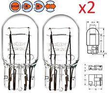 2X 12V 21/5W T20 W3x16Q WEDGE LAMPADINA FARO AUTO LUCE LAMPADA LAMPEGGIANTE