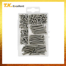 260 Pcs,Machine Screws 304 Stainless Steel Flat and Pan Head M3 Assortment Kit
