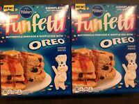 Pillsbury Funfetti Oreo PAncake Mix Limited Edition BestBy 12/21/21 Lot of 2-20z